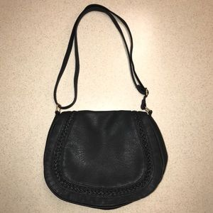 Rampage Purse with Braided Detail Black